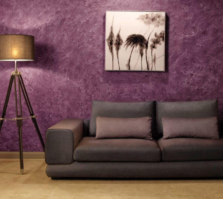 Cool Red And Purple Home Decor Of Textured Wall Paint