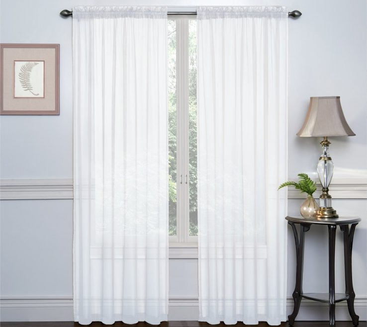 "Cool Unique Window Treatments Of Me White 2 Pack 54"" Inch63"""