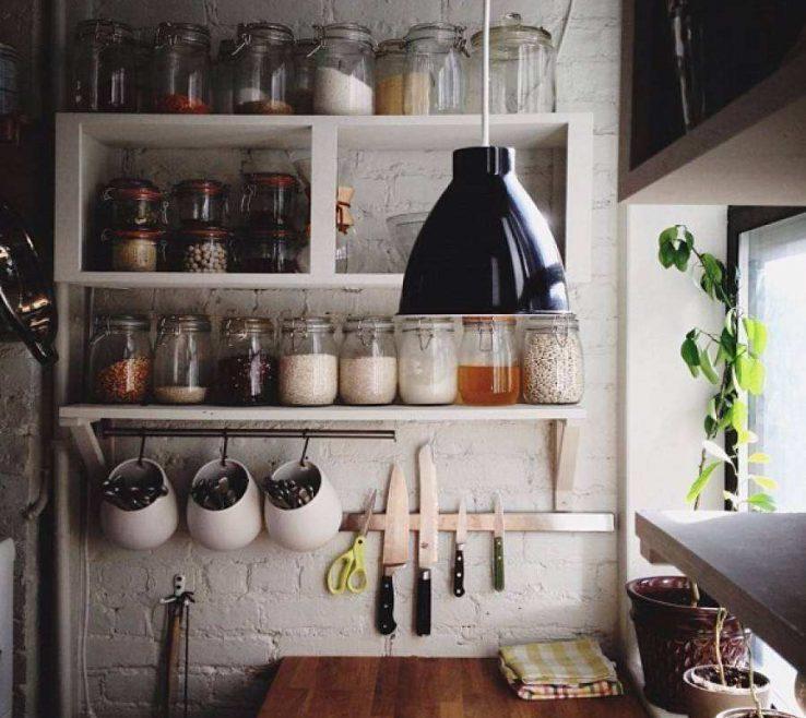 Cool Wall Mounted Kitchen Shelves Of Storage Luxury Creative Diy Wood Shelving Units