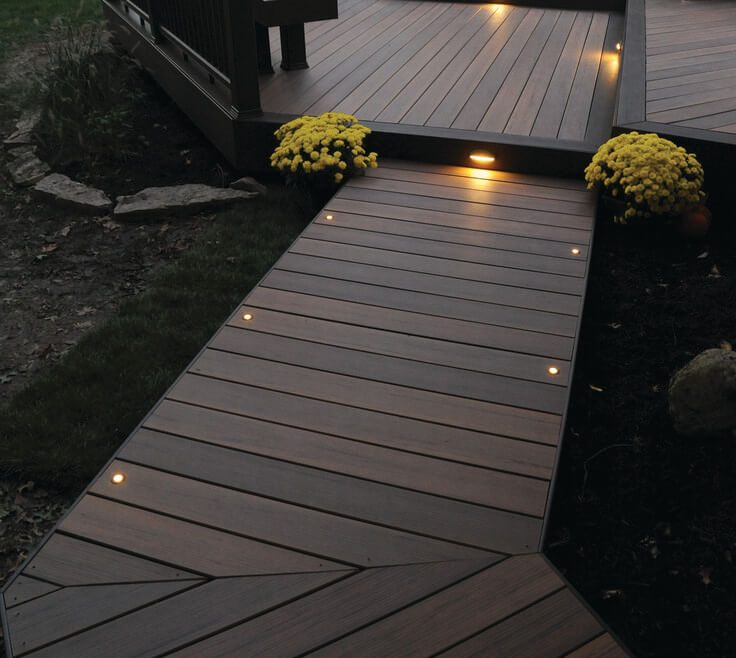 Cool Wood Garden Path Of Modern And Minimalist Decking