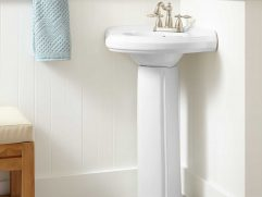 Corner Pedestal Sinks For Small Bathrooms
