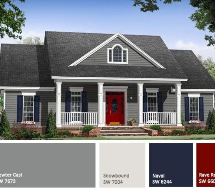 Cottage Paint Color Schemes Of E Plan Small Country E Plans Photo