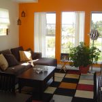 Curtains With Orange Walls Of Burnt Bedroom Decor Colour Of For Shade