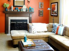 Awesome Curtains With Orange Walls Of Full Size Of Living Room Designst Accent