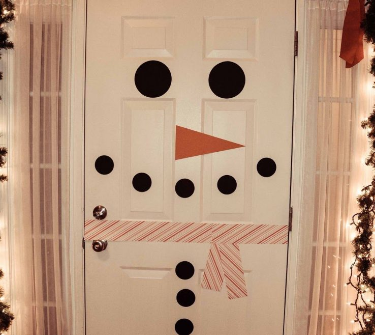 Decorate Bedroom Door Of Pins To Creation Post Snowman Monday,