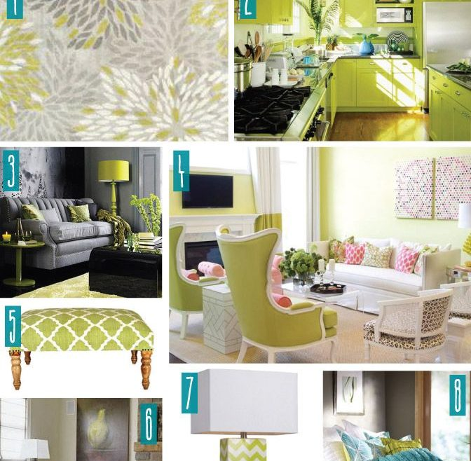 Decorating In Green Of Color Series, With Lime. Lime Home Decor.