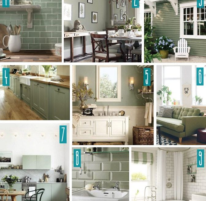 Decorating In Green Of Color Series; With Sage Green. Sage Green,