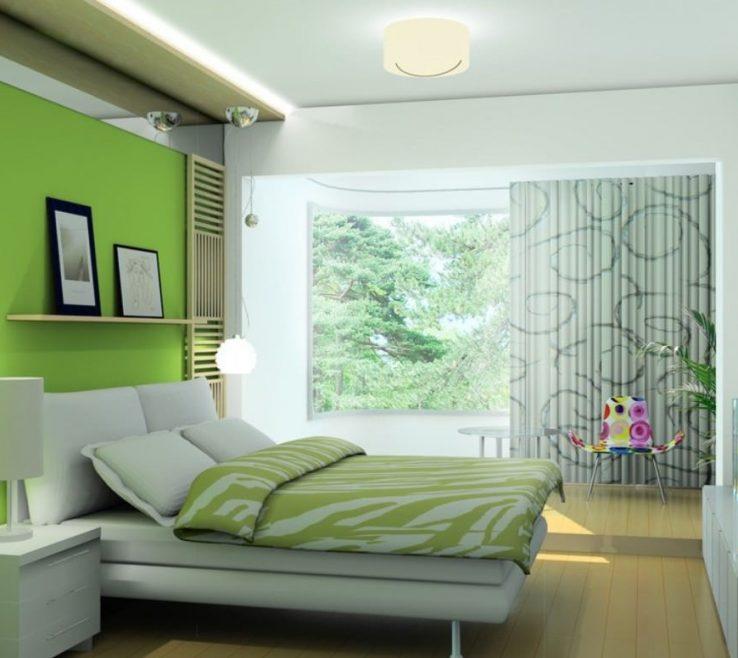 Decorating In Green Of Fresh Look Room Interior Design