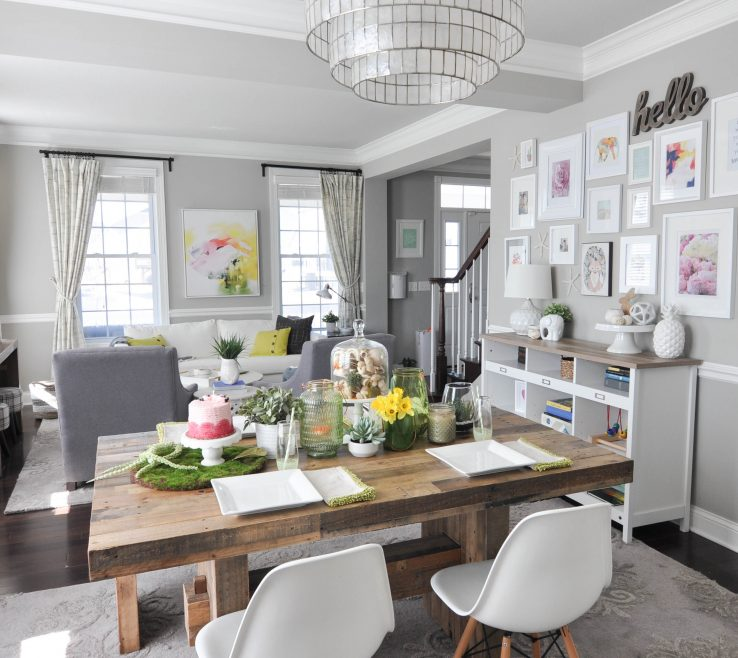 Decorating In Green Of Home Tour: With For Spring