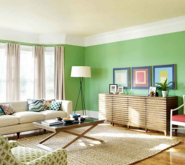Decorating With Green Of Living Room Color Schemes