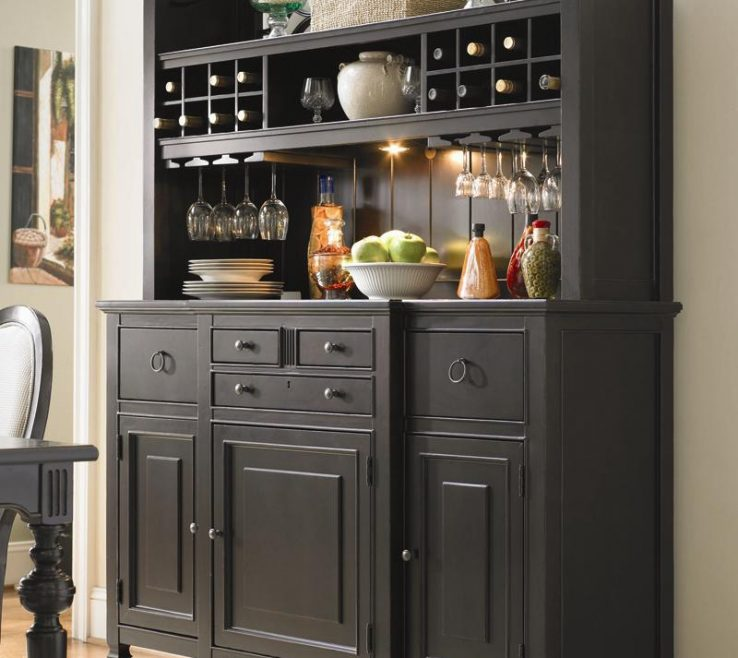 Dining Room Buffet Decorating Ideas Of Image Of: Hutch Black
