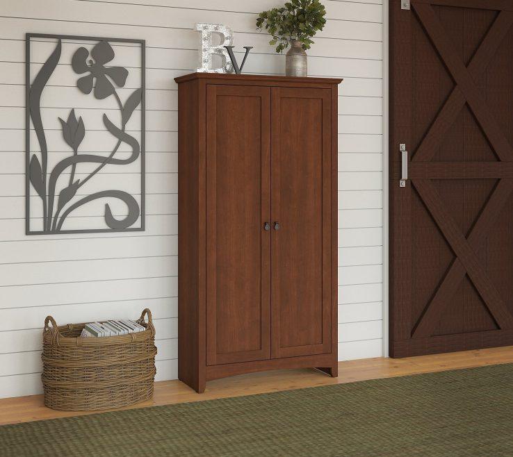 Elegant Cherry Doors Of Shop Buena Vista Tall Storage
