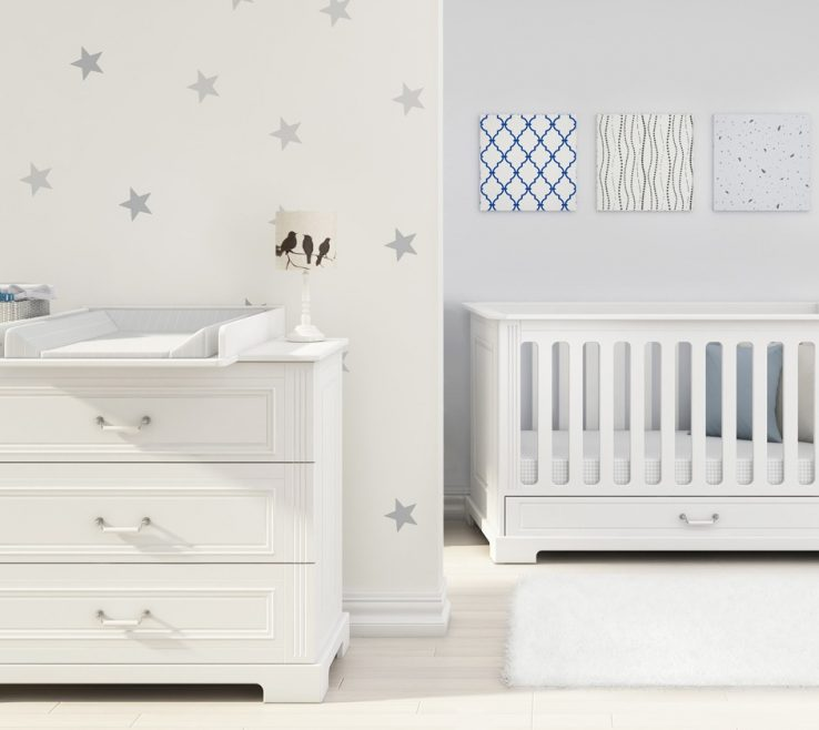 Elegant Chest Of Drawers For Nursery Of Furniture Set Neutural At Funique