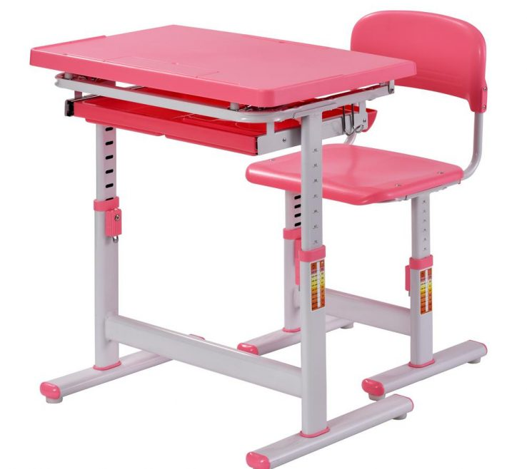 Elegant Child Desk Height Of Muscle Rack 2 Piece Pink Ergonomic Table Kids
