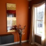 Elegant Curtains With Orange Walls Of Bedroom:white Bedroom Wall Themes Yellow And Brown