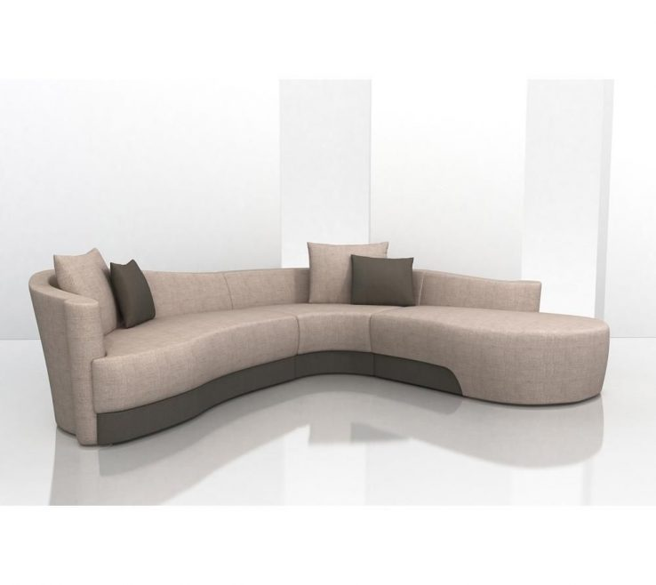 Elegant Curved Modern Sofa Of Bold Upholstered By Weiman