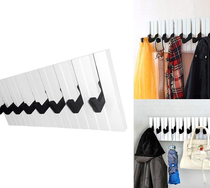 Elegant How To Organize Pocketbooks Of Decor Hut Piano 8 Hook Rack, Great