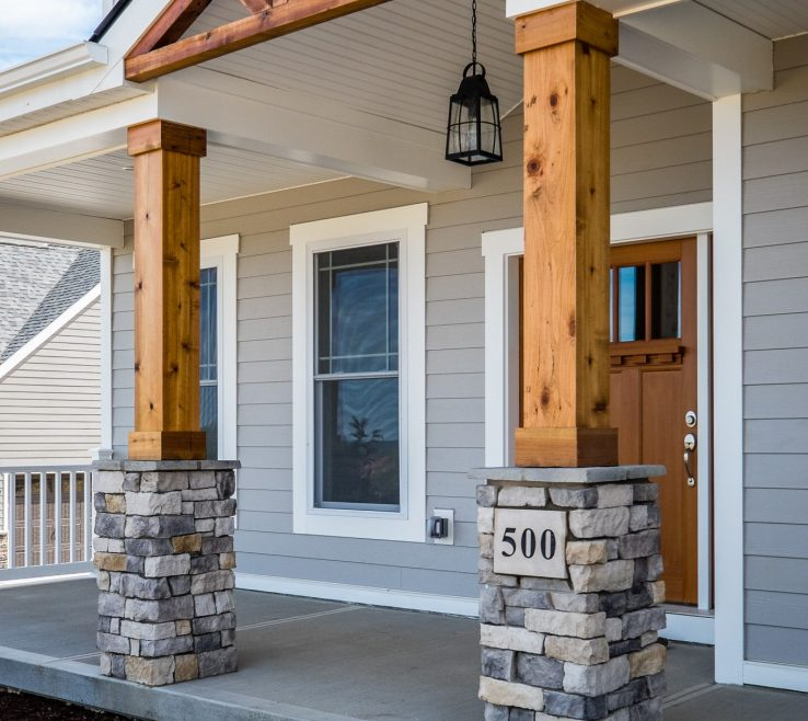 Elegant Indoor Column Ideas Of 21. Front Porch