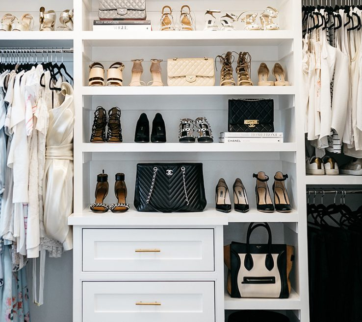 Elegant Master Bedroom Closet Designs Of Reveal | Bench With Shoe Cubbies