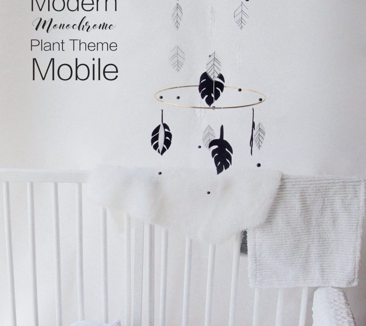 Elegant Modern Baby Decor Of Mobile | Minimalist Mobile | Palm Leaves
