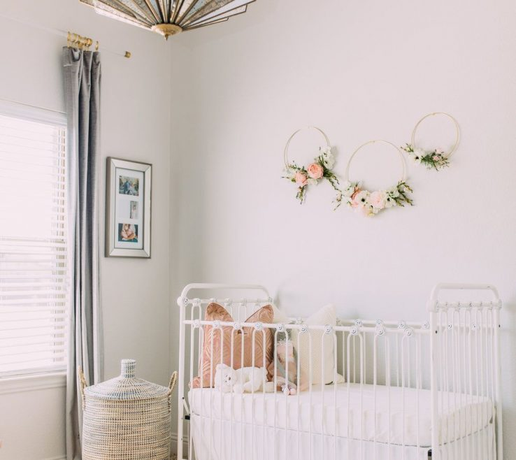 Elegant Modern Baby Decor Of Sophisticated H And White Girl Nursery —