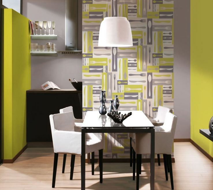 Elegant Wallpaper Designs For Kitchen Of Funky Retro Ideas Modern Learn Hang Wallpapers