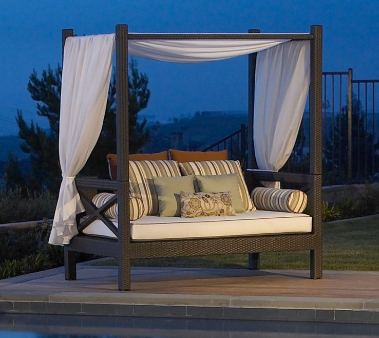 Enchanting Diy Outdoor Daybed With Canopy Of Delights Beds, Canopies, Living, Futon, Day Beds