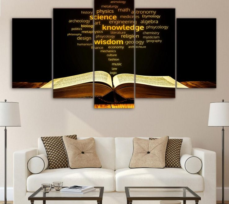 Enchanting Framed Objects Wall Art Of 2019 Canvas Print Academic Words Golden Religion