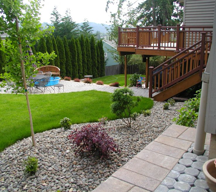 Enchanting Ideas For Yard Privacy Of Backyard Pool Landscaping Design Large And Beautiful