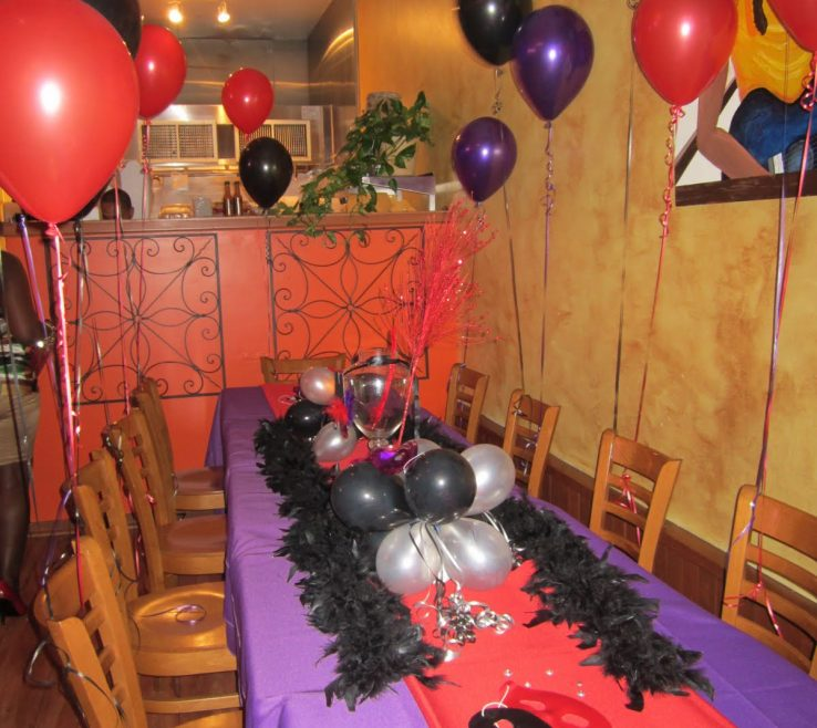 Enchanting Red And Purple Home Decor Of The Design How To Decorate A Birthday