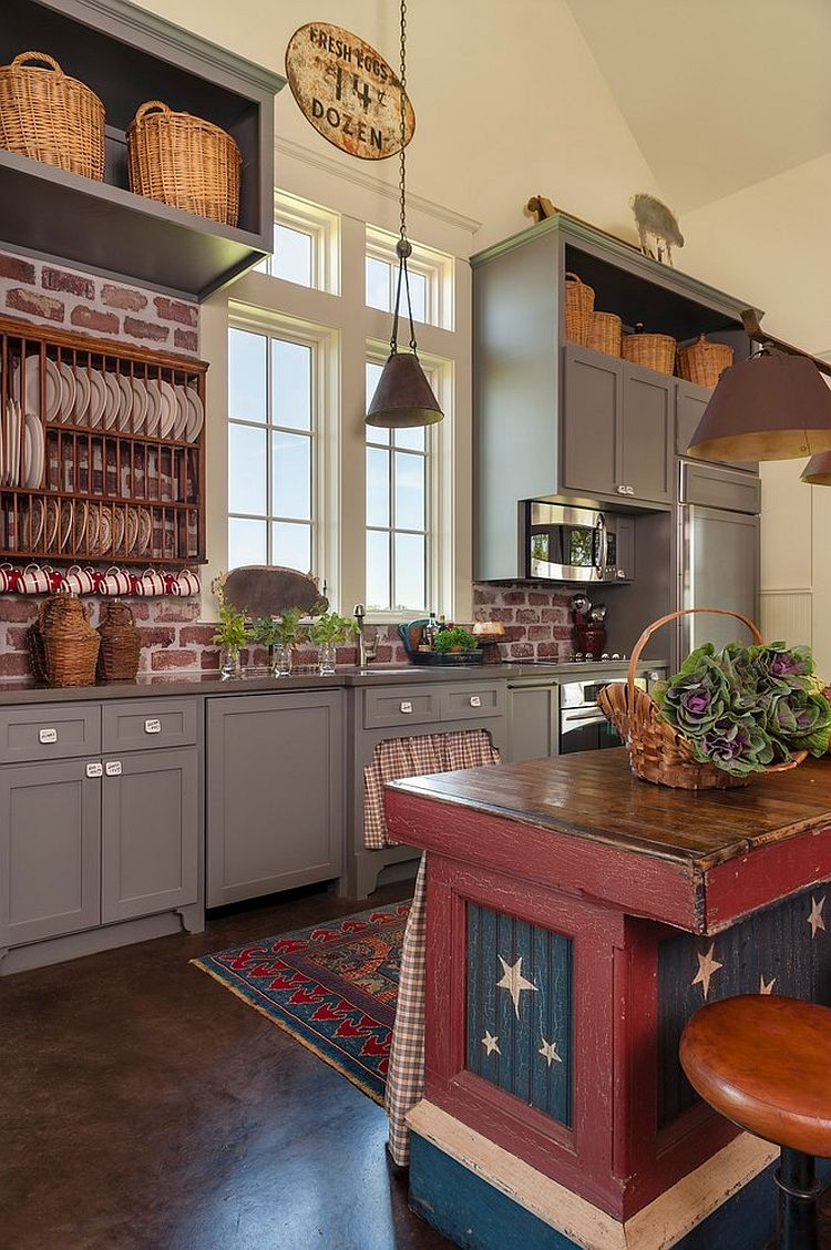 Enchanting Red Brick Kitchen Wall Tiles Of Trendy And Timeless Kitchens With Beautiful Walls