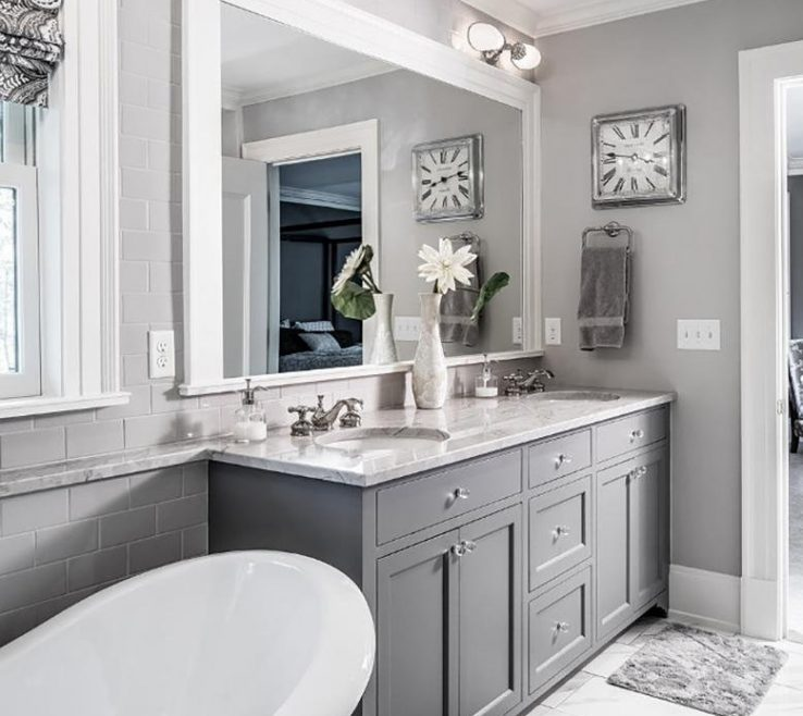 Enchanting Yellow Bathroom Paint Ideas Of Gray
