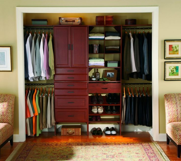 Endearing Closets Organization Ideas Of Masculine Reach In Closet