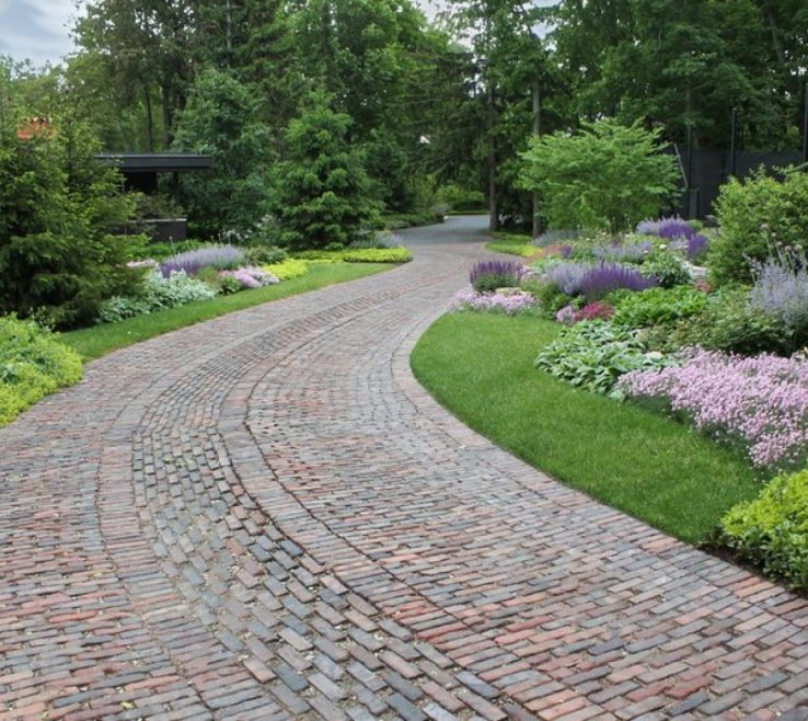 Endearing Driveway Entrance Ideas Of Image