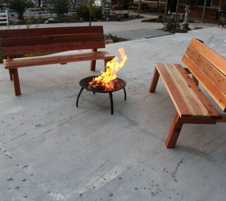 Endearing Garden Bench Table Of Custom Made Picnic Table/garden