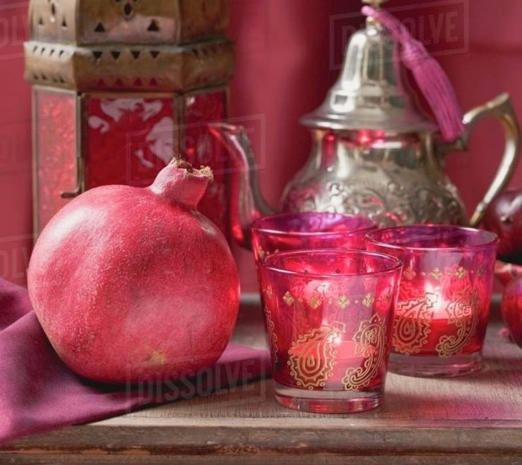 Endearing Middle Eastern Decorations Of Decorations Pomegranate Windlights Teapot