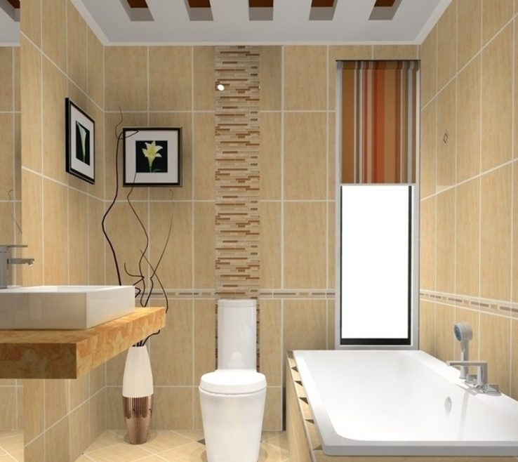 Endearing Modern Bathroom Walls Of Popular Decor Simple Design Ideas