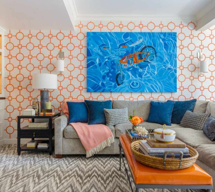 Endearing Orange Interior Design