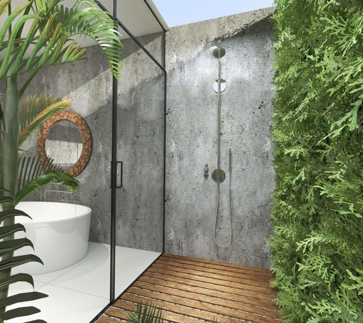 Endearing Outdoor Shower Floor Ideas