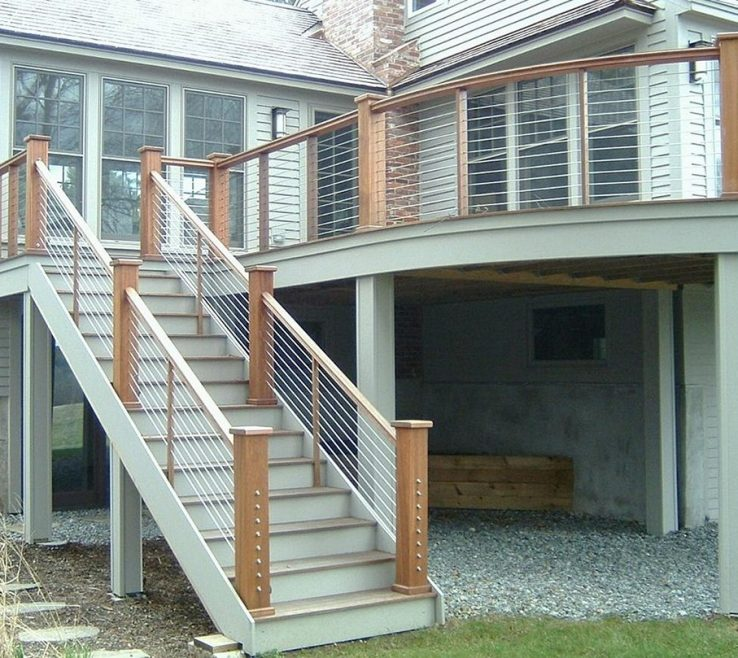 Endearing Outdoor Stairs Ideas Of Handrails For Height Code