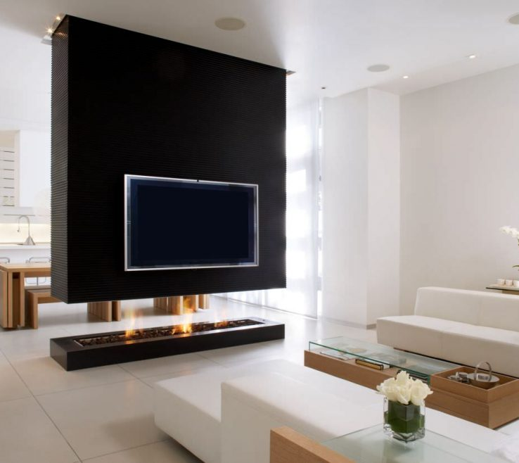 Endearing Partition Wall Ideas Of Modern Fireplace Design Divider