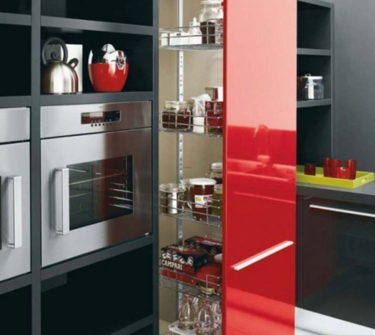 Endearing Red White And Black Kitchen Tiles