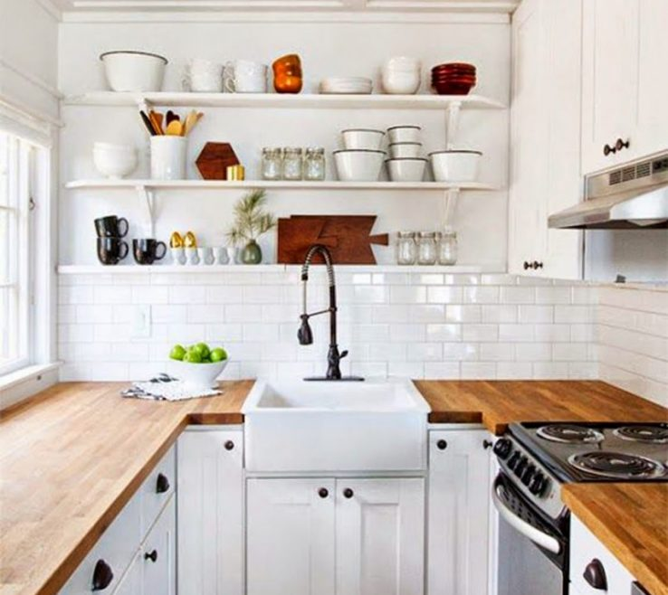 Endearing Small White Kitchens Of U Shaped Kitchen S