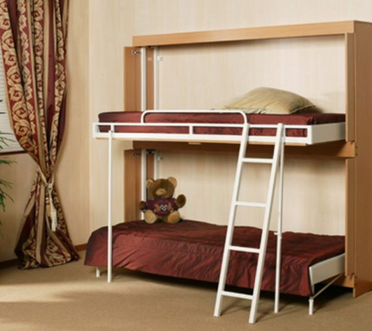 Endearing Wall Mounted Beds Of Bunk Folding Design