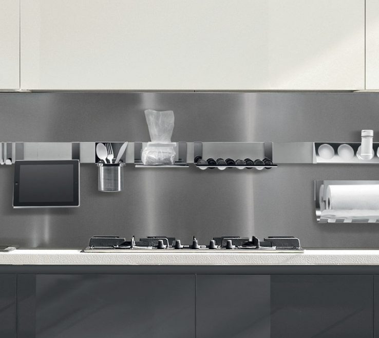 Endearing Wall Mounted Kitchen Shelves Of Wall Mounted Shelf Contemporary Aluminum