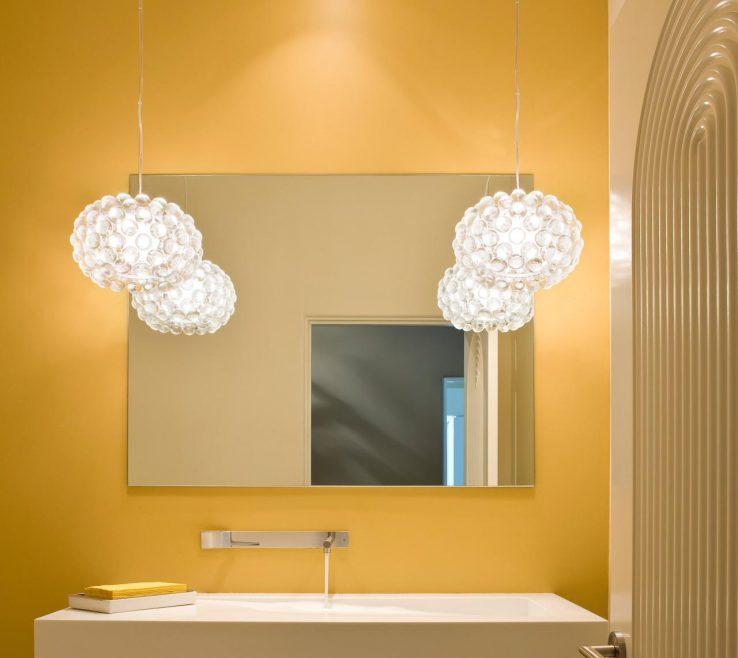 Endearing Yellow Bathroom Paint Ideas Of Sleek