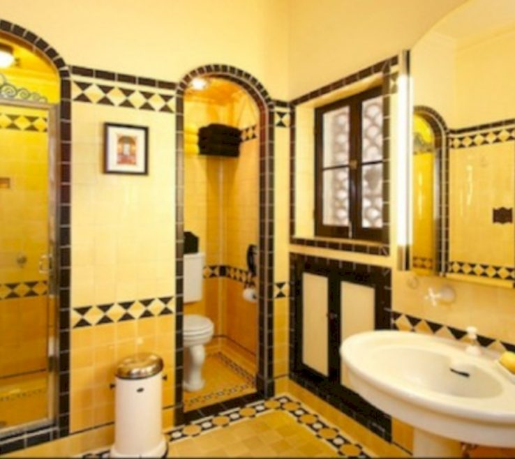 Endearing Yellow Bathroom Paint Ideas Of Tile Colors (13)