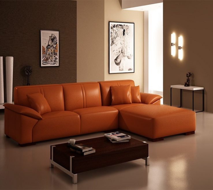 Enthralling Brown And Orange Sofa Of Terrific Faux Leather Couches Ektorp Review
