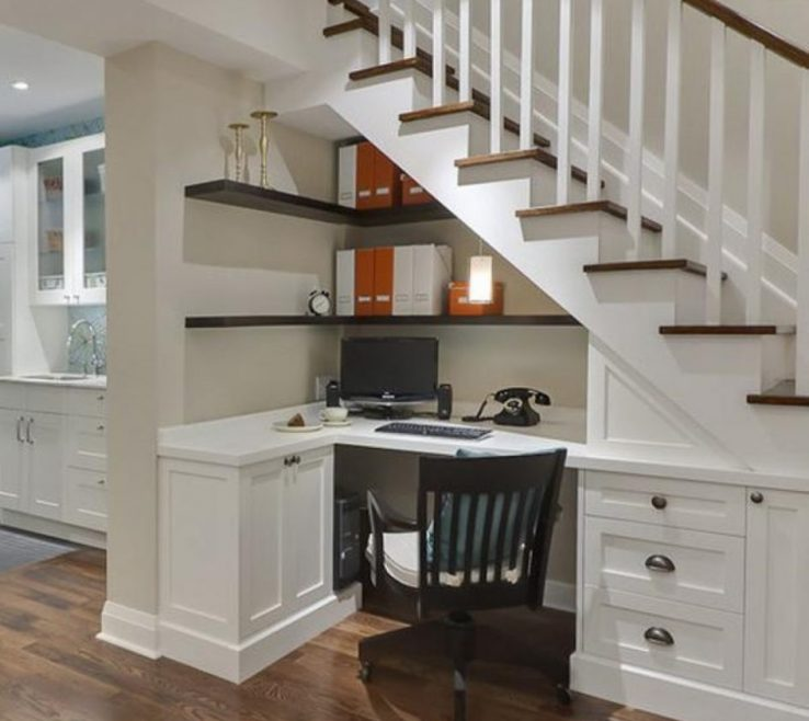 Enthralling Built In Desk Ideas For Small Spaces Of & Workstation Simple Sturdy Office S Diy
