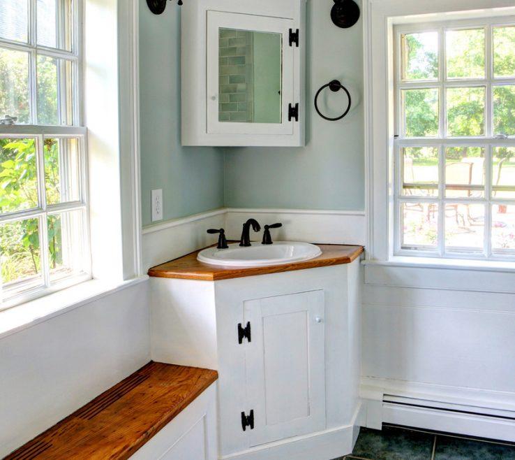 Enthralling Corner Sink Vanity Of Bathroom:home Designs Bathroom Engaging Bathroom Lavatory
